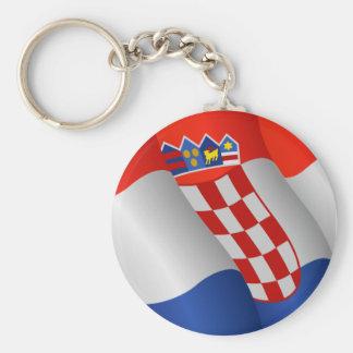 Porte-clés Drapeau de porte - clé de la Croatie
