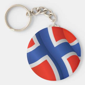 Porte-clés Drapeau de porte - clé de la Norvège