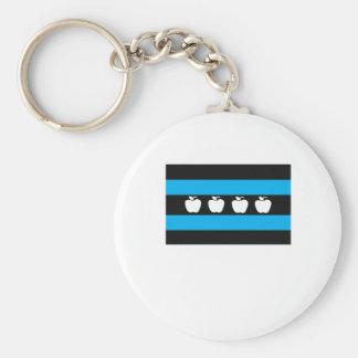 Porte-clés Drapeau de professeurs de Chicago - ROUGE original