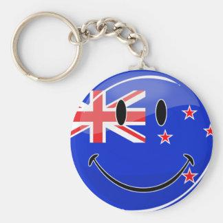 Porte-clés Drapeau de sourire de la Nouvelle Zélande