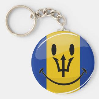 Porte-clés Drapeau de sourire des Barbade