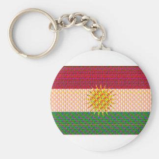 Porte-clés Drapeau du Kurdistan psychédélique