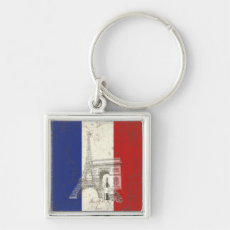 Porte-clés Drapeau et symboles de la France ID156