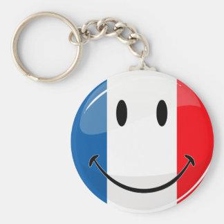 Porte-clés Drapeau français de sourire