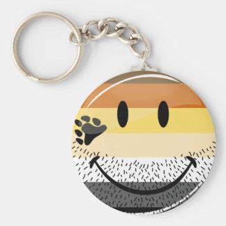 Porte-clés Drapeau gai heureux barbu drôle de fierté d'ours