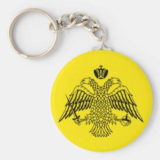 Porte-clés Drapeau grec le mont Athos d'église orthodoxe