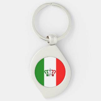 Porte-clés Drapeau moderne d'Italien de l'Italie de couronne