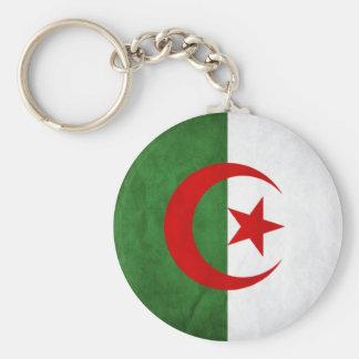 Porte-clés Drapeau national grunge de l'Algérie