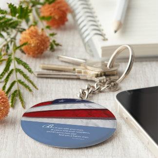 Porte-clés Drapeau patriotique et américain