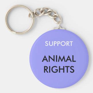 Porte-clés Droits des animaux porte - clé, bleu