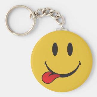 Porte-clés Drôle et mignon collant la langue Emoji