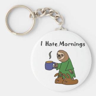 Porte-clés Drôle je déteste la bande dessinée de paresse de