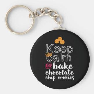 Porte-clés Drôle maintenez calme et faites les gâteaux aux