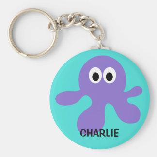 Porte - clés drôles de coutume de poulpe porte-clés