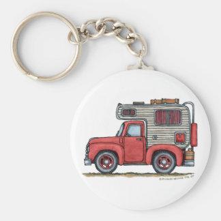 Porte - clés du campeur rv de camion pick-up porte-clé rond
