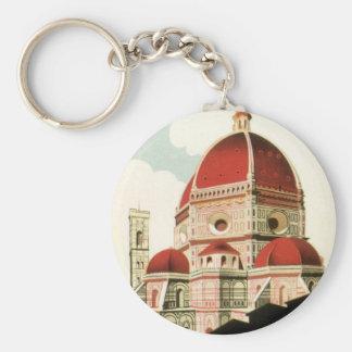 Porte-clés Duomo vintage d'église de Florence Firenze Italie