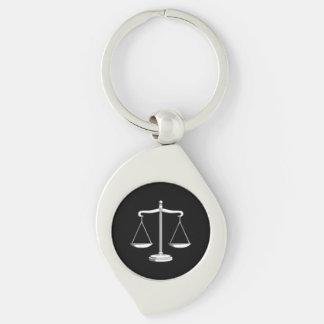 Porte-clés Échelles classiques des avocats de la justice |