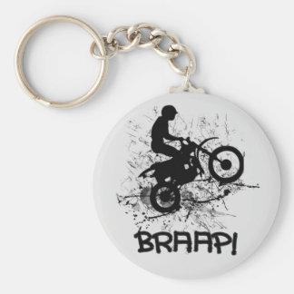 Porte-clés Éclaboussure Braap de boue de cyclistes de saleté