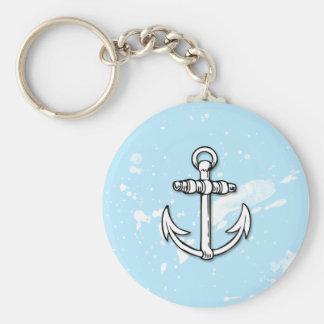 Porte-clés Éclaboussures bleues de peinture d'ancre - porte -