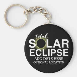 Porte-clés Éclipse solaire totale 2017 - date et emplacement