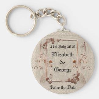 Porte-clés Économies romantiques de cru la date