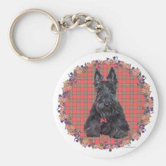 Porte-clés Écossais Terrier sur le tartan