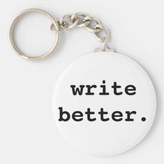 Porte-clés Écrivez un meilleur porte - clé