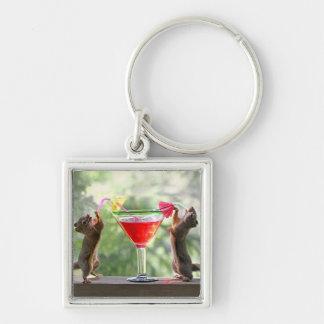Porte-clés Écureuils d'heure heureuse