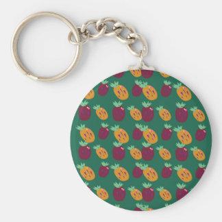 Porte-clés Édition peinte à la main d'ananases de conception