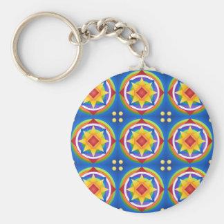 Porte-clés Édredon de mandala d'arc-en-ciel