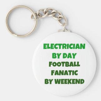 Porte-clés Électricien par le fanatique du football de jour