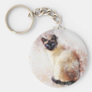 Porte-clés Éléments d'abrégé sur chat siamois