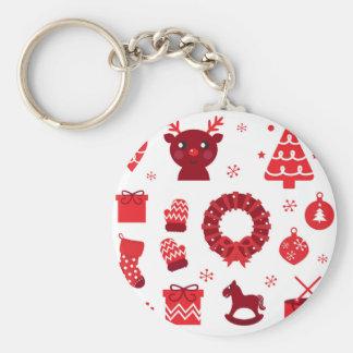 Porte-clés Éléments stupéfiants de Noël rouges