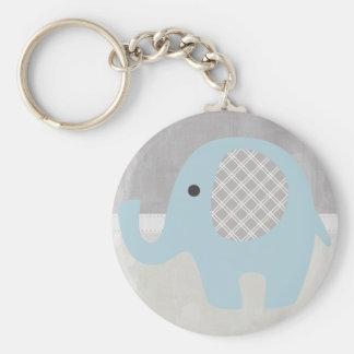 Porte-clés Éléphant magnifique de bébé dans le bleu