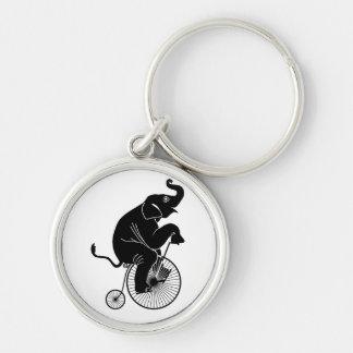 Porte-clés Éléphant montant un vélo