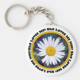 Porte-clés Elle m'aime, elle m'aime pas porte - clé