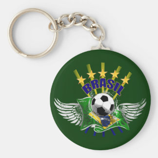 Porte-clés Emblème de logo du Brésil cinq étoiles pour les