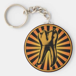 Porte-clés Emblème orange de graphique de dent