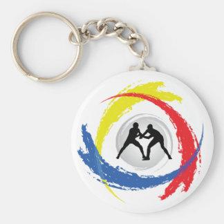 Porte-clés Emblème tricolore de lutte