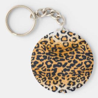 Porte-clés empreinte de léopard