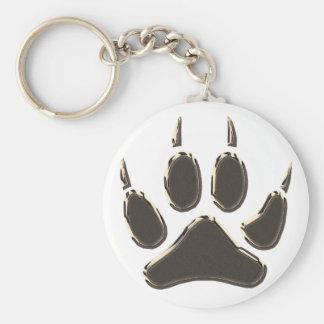 Porte-clés empreinte de pas de loup