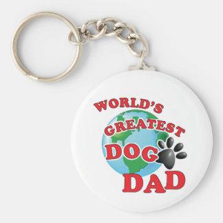 Porte-clés Empreinte de patte de papa du plus grand chien du