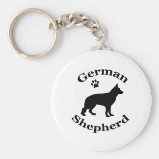 Porte-clés empreinte de patte de silhouette de noir de chien