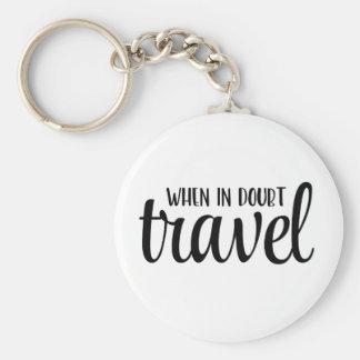 Porte-clés En cas de doute porte - clé de voyage