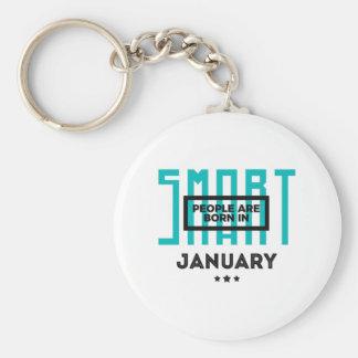 Porte-clés En janvier anniversaire soutenu futé de bébés