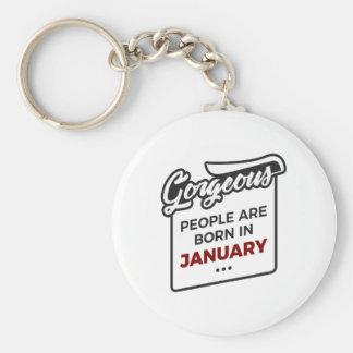 Porte-clés En janvier anniversaire soutenu magnifique de