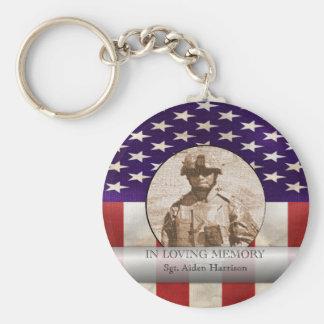 Porte-clés En photo militaire de mémoire affectueuse