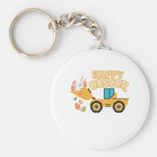 Porte-clés Enfants heureux de garçons de cadeau de tracteur