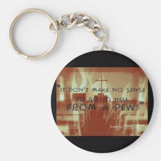 Porte-clés Enfer d'un bouton de banc