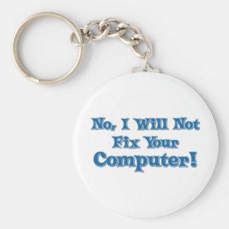 Porte-clés Énonciation drôle au sujet des ordinateurs